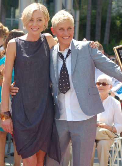 Portia De Rossy dan Ellen Degeneres Sumber : wikipedia