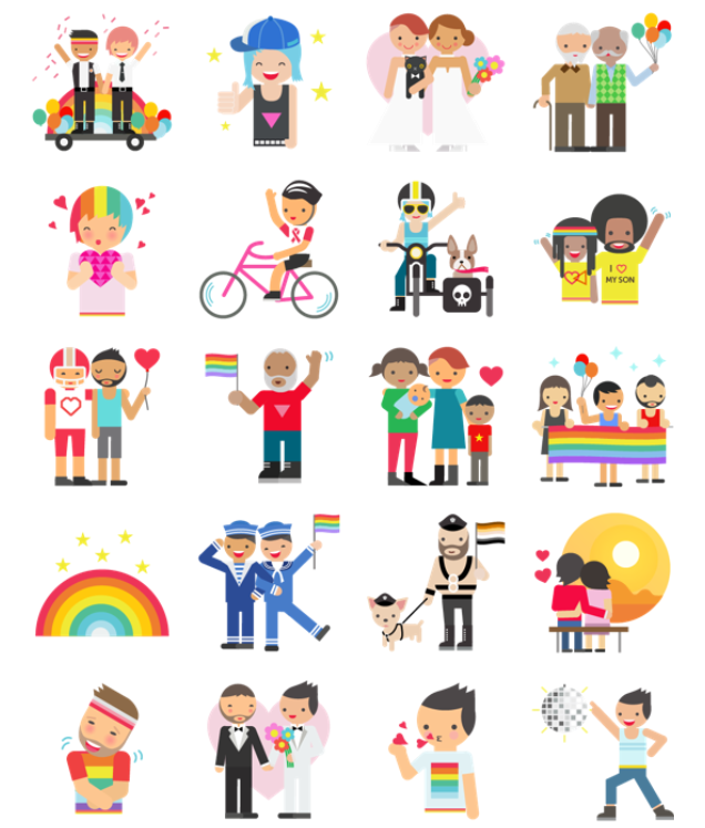 Sticker LGBT facebook