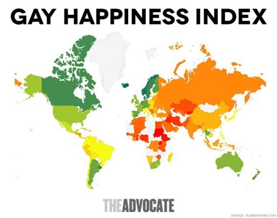 gay happiness index by planet romeo