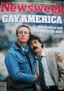 Sampul Majalah Gay America tahun 1983
