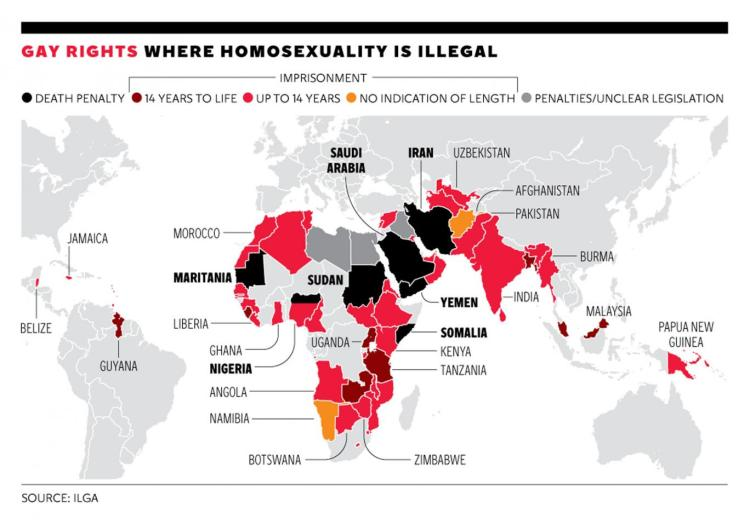 Homosexuality Legal Map 2014 sumber: independent.co.uk
