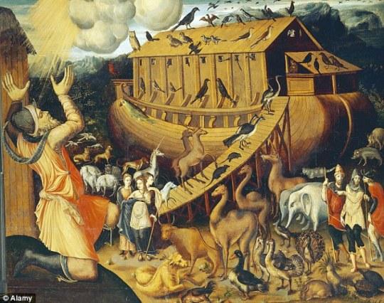 Ilustrasi kapal Nabi Nuh Sumber : dailymail