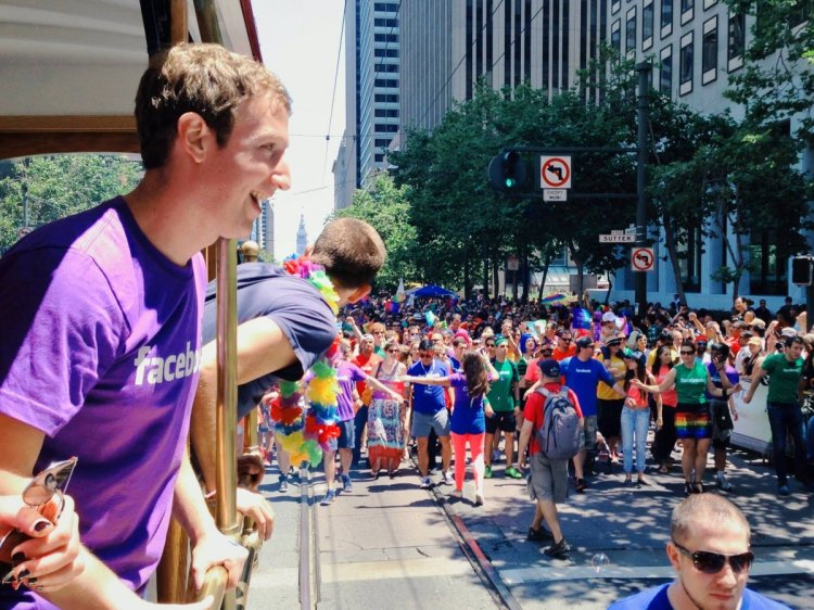 Mark Zukerber, CEO Facebook ikut dalam parade LGBT Sumber : valleywag.gawker.com