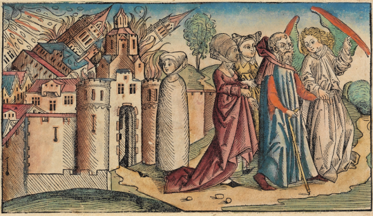 Gambar cerita Sodom dan Gomorrah dari the Nuremberg Chronicle oleh Hartmann Schedel, 1493 Sumber : wikipedia