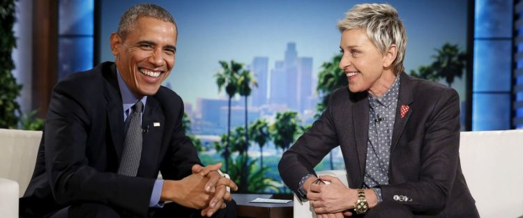 Barack Obama dan Ellen Degeneres Sumber : abcnews