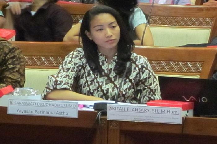 Rahayu Saraswati, Anggota Kaukus yang juga anggota Komisi 8 dari Fraksi Gerindra Sumber : tribunnews