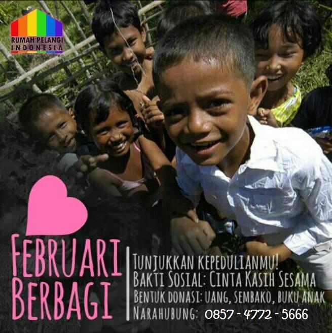 rumah pelangi indonesia, Februari Berbagi di semarang