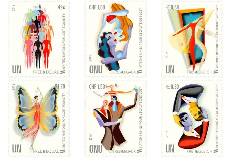UN LGBT stamps Sumber : un.org