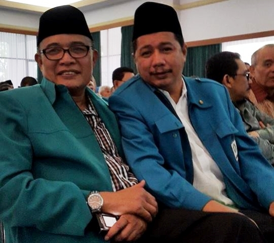 Usamah Hisyam (kanan), Ketua Persaudaraan Muslim Indonesia (Parmusi) Sumber : pramusi