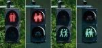 Lampu lalu lintas bergambar pasangan sesama jenis di Utrecht, Vienna danMunich