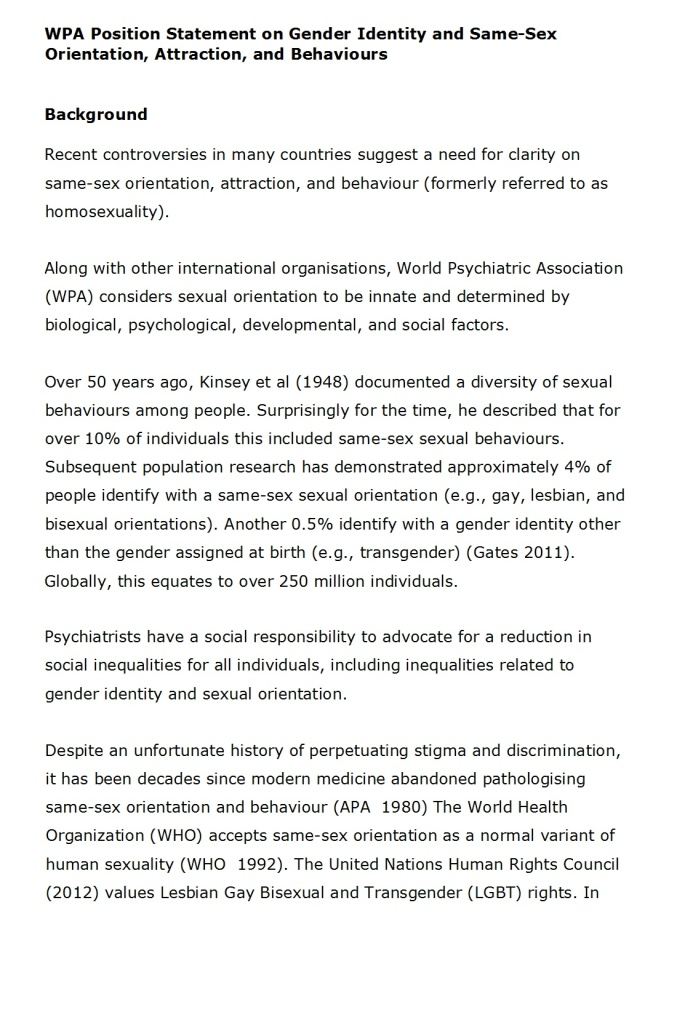 WPA Position statement on same sex FINAL-21 March 2016 1